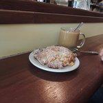 orange date scone w/coffee