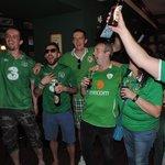 Irish fans having a ball
