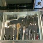 調理道具もひととおりある