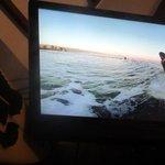 Santa Cruz Surfer Movie Showing During Dinner at Aloha Island Grille - Fun To Watch - Santa Cruz