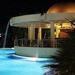 pool and bar @ night