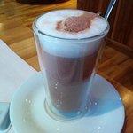 Hot chocolate at breakfast