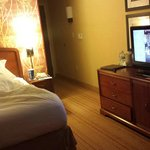 Hard to see tv if in bed as its on the side of the bed