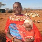 Samburu mother and baby at the airstrip
