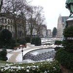 La place pendant l'hiver