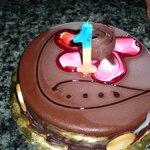 my bithday cake,nice surpise from staff