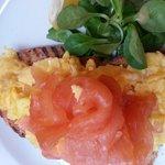 Smoked Salmon and scrambled eggs