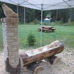 fontana - scultura in lavorazione