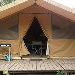 la tente toile et bois