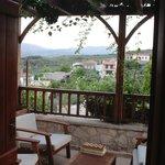 evening on villa balcony