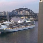 View from the room... Sunset in the Sydney Harbour