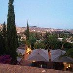 Overlooking the hotel