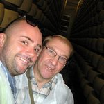 """Alessandro and Peter """"hamming it up"""" amongst the cheese!"""