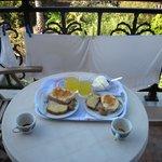 la prima colazione in camera