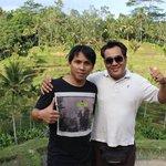 in Mitten der Reisterrassen mit Dennis