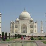 Front view of Taj Mahal.