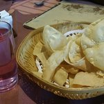 The soothing welcome drink (Dahashamani) along with crispy Papadoms