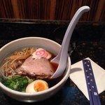Tokyo shoyu ramen with giant spoon! Pretty gd:)