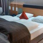 Queen-Bett im Eckzimmer - Sehr angenehmes Ambiente
