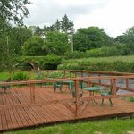 our decking on the river tar
