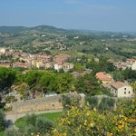 View from an overlook in Tuscany