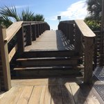 No ramp to the beach from Deck