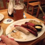 The sausage platter and a wonderful beer!