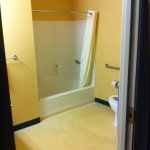 Bathroom (was given a handicapped accessible room)