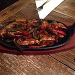 Chicken fajitas from the menu - simply delicious