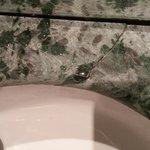 Crack in bathroom sink