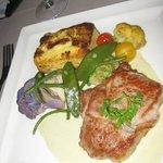 Veal and polenta