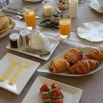 Fresh and welcoming breakfast.