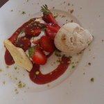 "Dessert du menu ""flibustier"" 26 e"
