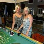 kiki & pauline at casino night