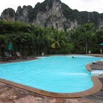 swimming pool with cliff view