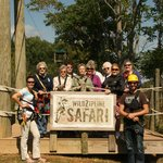 JEM volunteers finish 3 hr zip adventure