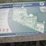 Map of Bishop's Palace Gardens