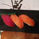 Sushi Tuna and sushi salmon