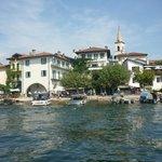 View of Isola Superiore dei Pescatori on Lago Maggiore