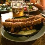 Deep fried sausage. Yummy!!!