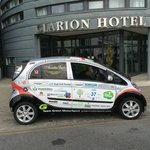 EV at the Clarion - fully charged!