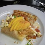 Peach crepes! So pretty