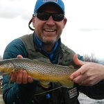 Quality Brown caught on the Madison River by Gando!