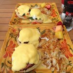 Eggs Benedict from the cafe.  Make sure you tell them not to overcook the eggs :) other than tha
