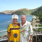 Guided bus tour at Diamond Head area