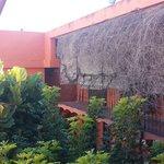 Vista da varanda do patio interno
