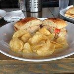 tuna sandwich with potato chips. meh.