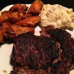 Ribeye with Wings @ The Carolina Tavern, 852 Mall Drive, Murrells Inlet, SC