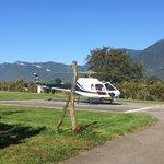 Héliport et tour en hélicoptère