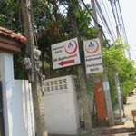 Hostel sign--it is easy to miss, our cab driver drove by it three times before we saw it